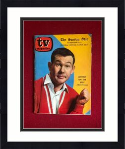 "1962, Johnny Carson, ""TV Magazine"" (No Label) Scarce / Vintage"