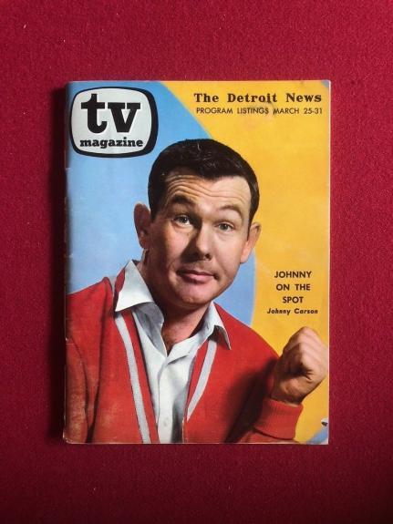 "1962, Johnny Carson, ""TV Magazine"" (Scarce)"