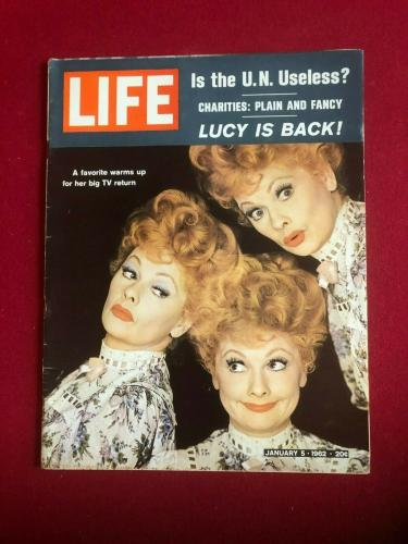 "1962, Lucille Ball, ""LIFE"" Magazine (No Label) Scarce / Vintage"
