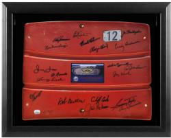 1962 New York Mets Team Autographed Framed Red Shea Stadium Seat - Mounted Memories