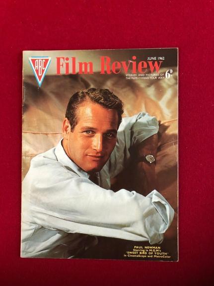 """1962, Paul Newman, """"Film Review"""" Magazine (No Label) Scarce / Vintage"""