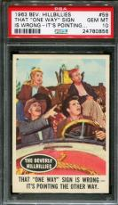 "1963 Beverly Hillbillies #59 That ""one Way"" Sign Pop 2 Psa 10 N2272047-856"