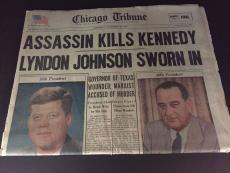 "1963 John F. Kennedy, ""Assassination"" Newspaper"