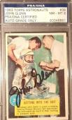 1963 John Glenn Topps Astronauts Friendship 7 Signed PSA/DNA NM-MT 8 AUTO NASA