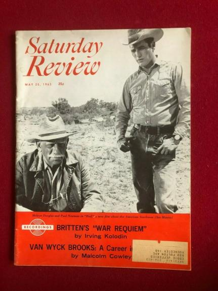 "1963, Paul Newman, ""Saturday Review"" Magazine (Scarce/ Vintage)"