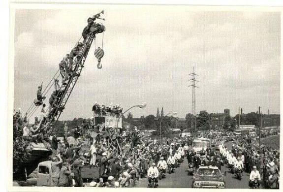 1963 President John F Kennedy Berlin Trip, Motorcade Crowds, Orig Wire Photo