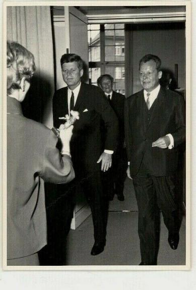 1963 President John F. Kennedy Berlin Trip w/Willy Brandt, Orig  Wire Photo