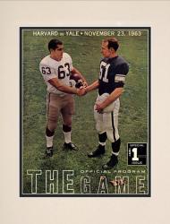 1963 Yale Bulldogs vs Harvard Crimson 10 1/2 x 14 Matted Historic Football Poster