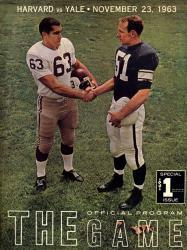 1963 Yale Bulldogs vs Harvard Crimson 22x30 Canvas Historic Football Poster