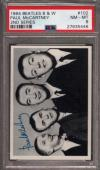 1964 BEATLES B&W #102 PAUL McCARTNEY POP 6 PSA 8 N2499167-446