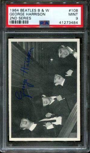 1964 Beatles B&w #108 George Harrison Pop 2 Psa 9 N2600061-484