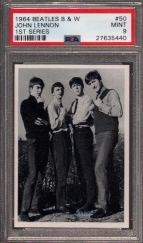 1964 Beatles B&w #50 John Lennon Pop 3 Psa 9 N2499161-440