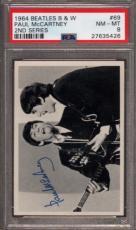 1964 BEATLES B&W #69 PAUL McCARTNEY POP 8 PSA 8 N2499200-426