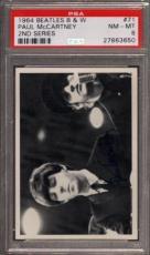 1964 BEATLES B&W #71 PAUL McCARTNEY POP 2 PSA 8 N2505107-650