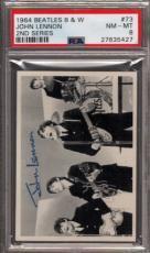 1964 Beatles B&w #73 John Lennon Pop 9 Psa 8 N2499201-427