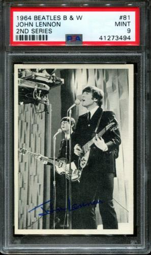 1964 Beatles B&w #81 John Lennon Pop 2 Psa 9 N2600066-494