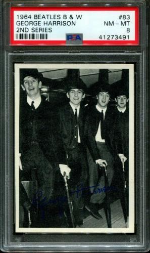 1964 Beatles B&w #83 George Harrison Pop 8 Psa 8 N2600069-491