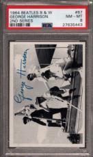 1964 Beatles B&w #87 George Harrison Pop 9 Psa 8 N2499164-443