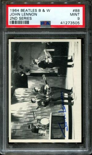 1964 Beatles B&w #88 John Lennon Pop 3 Psa 9 N2600081-505