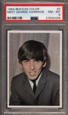 1964 Beatles Color #3 Meet George Harrison Psa 8 N2499180-406