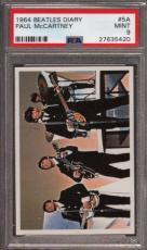 1964 BEATLES DIARY #5A PAUL McCARTNEY POP 3 PSA 9 N2499177-420