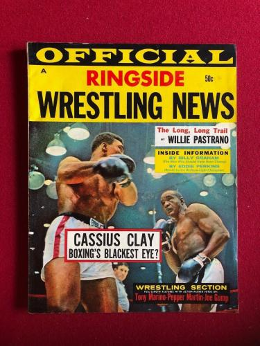 "1964, Cassius Clay (Muhammad Ali), ""Ringside"" Magazine (No Label) (Liston)"