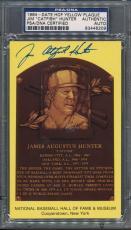 1964 HOF Plaque Jim Catfish Hunter PSA/DNA Certified Authentic Auto Signed *6209