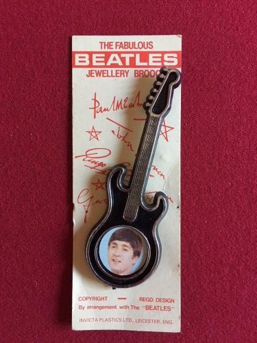 1964, John Lennon (Beatles), Jewelry Brooch on Original Card (Scarce)