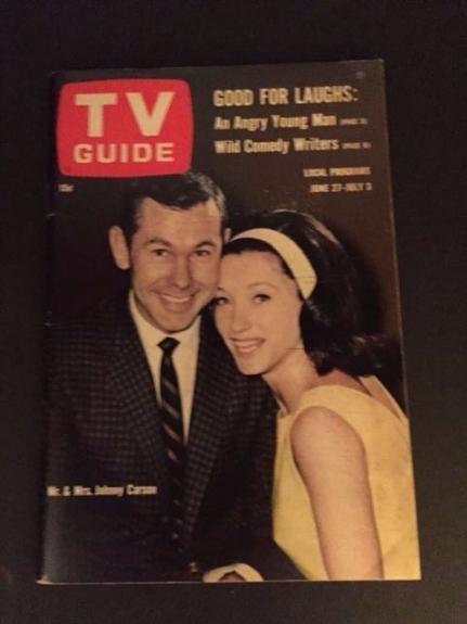"1964, Johnny Carson, ""TV Guide"" (No Label) Scarce / Vintage"