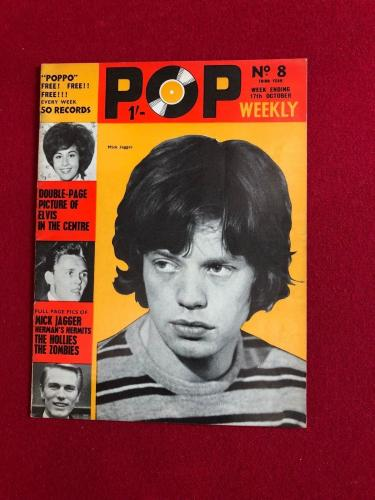 "1964, Mick Jagger (Rolling Stones), ""POP WEEKLY"" Magazine (No Label) Scarce"