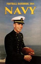 1964 Navy Midshipmen Staubach Program   22x30 Canvas Historic Football Poster