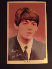 """1964 Paul McCartney, Beatles, """"Un-Used"""" Post Card, """"NEMS"""