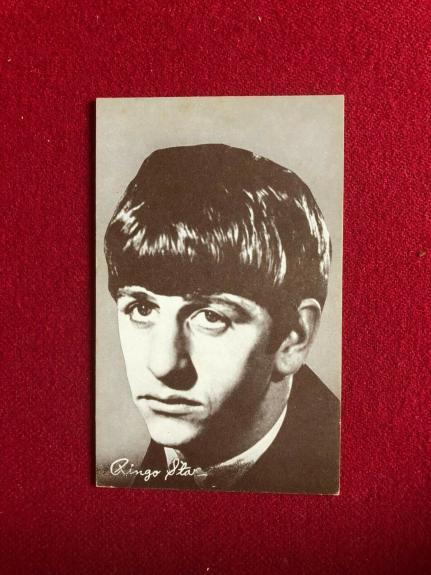 "1964, Ringo Starr, Beatles, ""Exhibit"" Card, (Scarce / Vintage)"