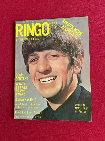 "1964, Ringo Starr, Beatles, ""RINGO"" Magazine, (No Label) Scarce /Vintage"