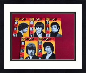 """1964, Rolling Stones (Mick Jagger),""""POP WEEKLY"""" Magazines (5) (No Labels) Scarce"""