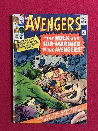 "1964, Stan Lee, ""Autographed""(JSA) ""The Avengers #3"" Comic Book  (Scarce)"