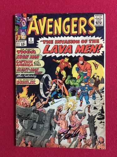 "1964, Stan Lee, ""Autographed""(JSA) ""The Avengers #5"" Comic Book  (Scarce)"
