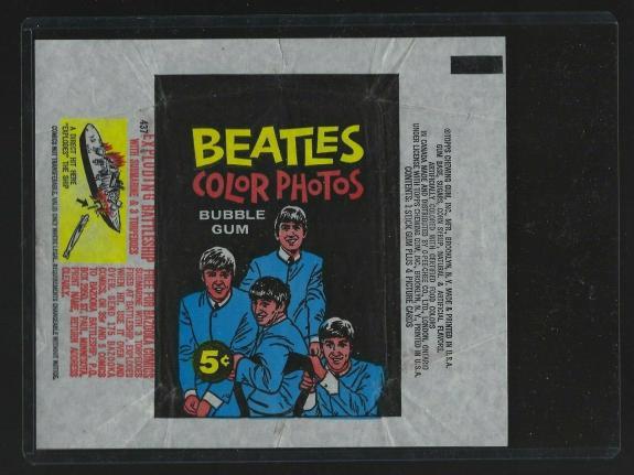 1964 Topps Beatles Color Photos 5 Cent Non Sport Wrapper
