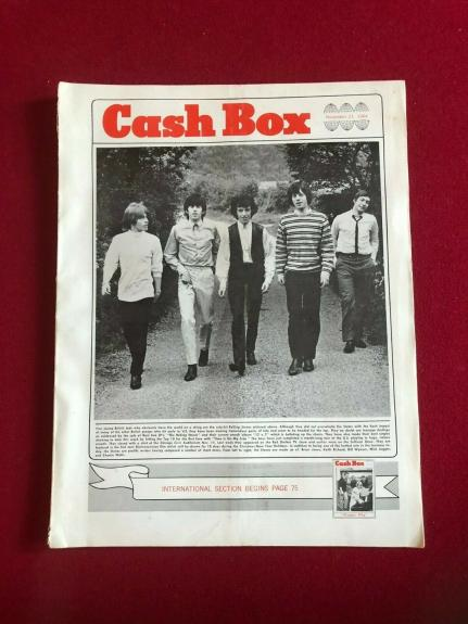 "1964,Rolling Stones,""Cash Box"" Magazine (No Label) Scarce / Vintage(Mick Jagger)"