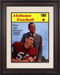 1965 Alabama Crimson Tide Bryant Cover 10 1/2 x 14 Framed Historic Football Poster - Mounted Memories