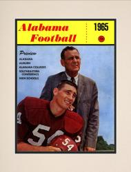 1965 Alabama Crimson Tide Bryant Cover 10 1/2 x 14 Matted Historic Football Poster