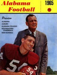 1965 Alabama Crimson Tide Bryant Cover 22x30 Canvas Historic Football Poster