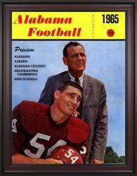 1965 Alabama Crimson Tide Bryant Cover 36x48 Framed Canvas Historic Football Poster