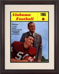 1965 Alabama Crimson Tide Bryant Cover 8.5'' x 11'' Framed Historic Football Poster - Mounted Memories