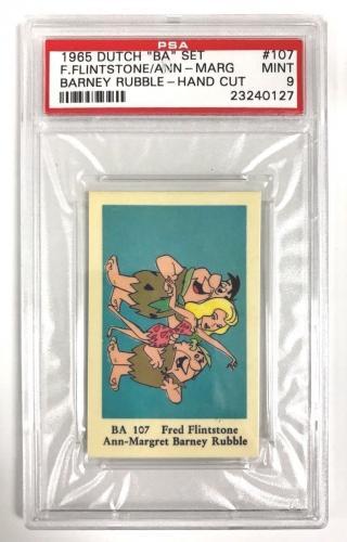 "1965 Dutch ""ba"" Set Ann Margret Fred Flinstone Barney Rubble Psa 9 Mint Centered"