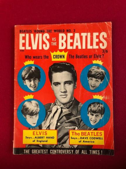 "1965, Elvis Presley, ""ELVIS vs The BEATLES"" Magazine (Scarce / Vintage)"