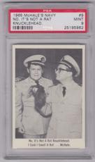 1965 Mchale's Navy No, It's Not A Rat Knucklehead. Card #9 Psa 9 Mint Centered