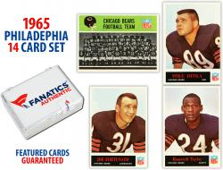 1965 Chicago Bears Philadelphia Football Team Set of 14 Cards - Mounted Memories