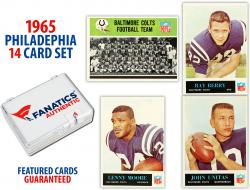 1965 Baltimore Colts Philadelphia Football Team Set of 14 Cards