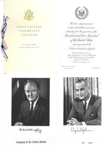 1965 President Lyndon Johnson Inaugural Congressional Invitation Set 1-20-1965 #2129